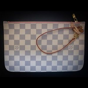 NEW Louis Vuitton Neverfull GM zippered Clutch